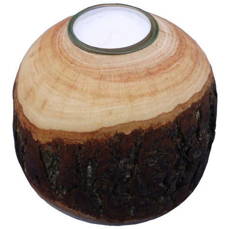 rinden teelichthalter kugel klein 216 7cm deko teelichtkugel holz kindergartenausstattung