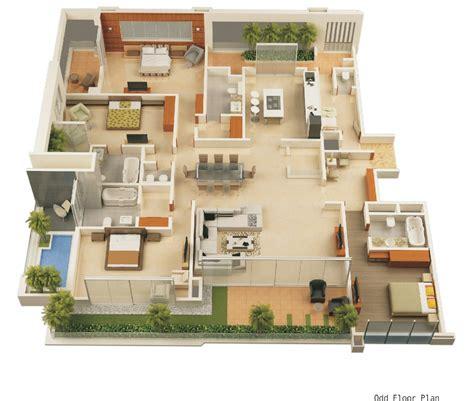 Modern Home 3d Floor Plans House Plans Pinterest