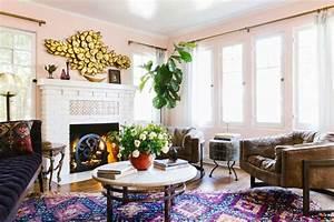 1001 designs magiques pour creer un salon cocooning With tapis ethnique avec faire teindre un canapé en cuir