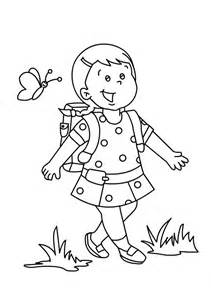 Preschool First Day of School Coloring Pages