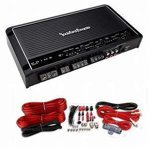 Rockford Fosgate R600x5 600 Watt 5 Channel Amplifier Car Amp   Wiring Kit Rca