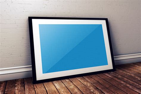 realistic poster frame mock ups  graphic