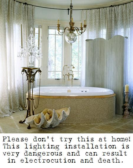 Chandelier Bathtub Images by Electricity And Water Don T Mix At Least Not In Any Sort