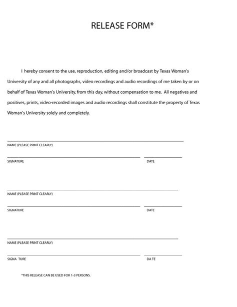 release form template 53 free photo release form templates word pdf template lab