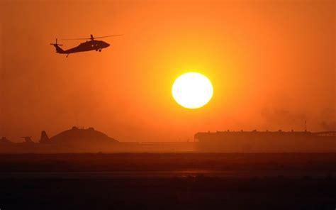 Silhouette, Sikorsky Uh 60 Black Hawk, Sun, Sunset