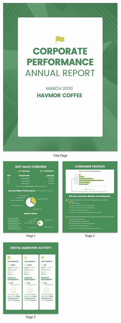 Annual Report Corporate Template Templates Examples Yearly