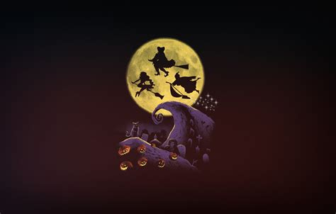 Hocus Pocus Desktop Wallpaper by Wallpaper Minimalism The Moon Witches