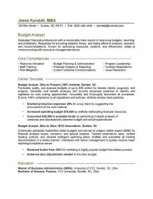 budget analyst resume template budget analyst resume