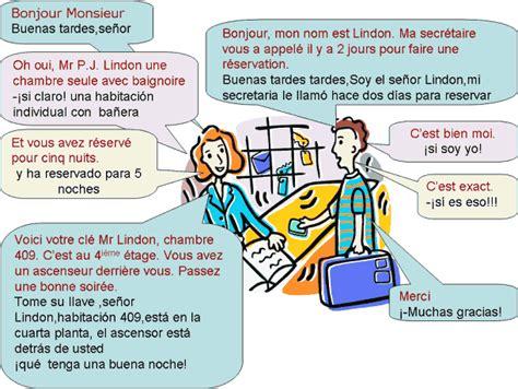 dialogue llegando al hotel espagnol