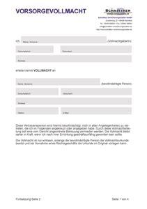 vorsorgevollmacht formular muster kostenlos downloaden