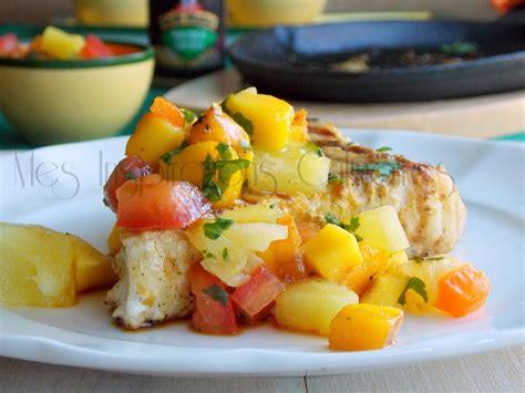 cuisine espadon espadon grillé salsa épicée comme aux antilles le