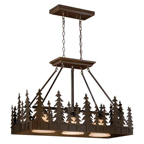 rustic chandeliers big sky island pendant light black