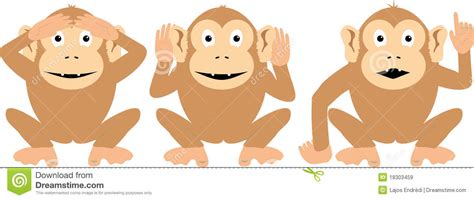 three more wise monkeys stock illustration illustration of three 18303459