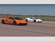 Two 2,000 HP Lamborghinis Gallardo and Huracan Duke It Out