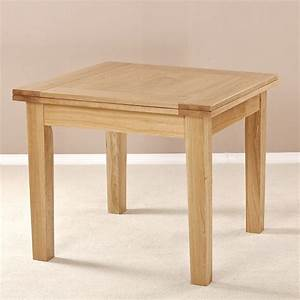 MILANO SOLID OAK SQUARE FLIP TOP EXTENDING DINING TABLE