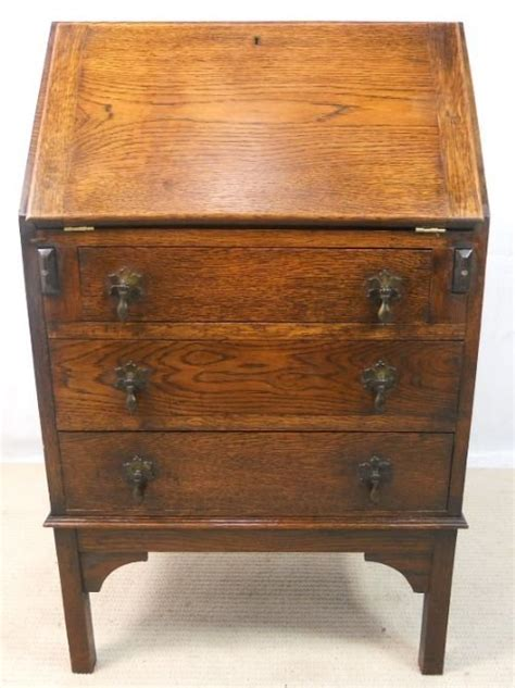small oak writing bureau desk 150430 sellingantiques co uk