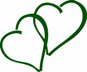 Green Double Hearts Clip Art at Clker.com - vector clip ...