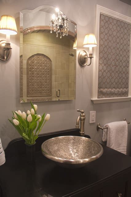 Houzz Living Room Lighting by Moroccan Inspired Bath