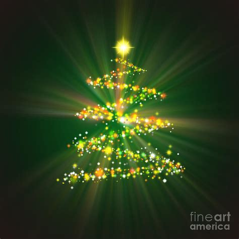 christmas tree digital art by atiketta sangasaeng