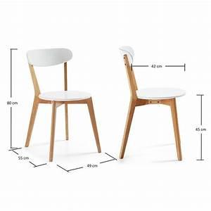 Chaise En Bois Blanc : chaise bois blanc ~ Teatrodelosmanantiales.com Idées de Décoration