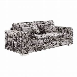 Bouvier 3 2 seater sofa combo in natural double for Crushed velvet sectional sofa