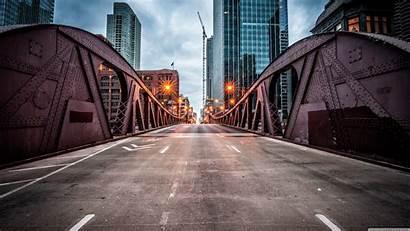 Street Chicago Bridge Clark Uhd 4k Background