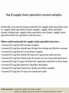 Top 8 supply chain specialist resume samples