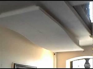 """vague placo plafond en BA13 """"cintrage des plaques"""" - YouTube"""