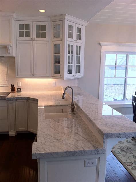 carrara marble countertop the granite gurus carrara marble kitchen from mgs by design