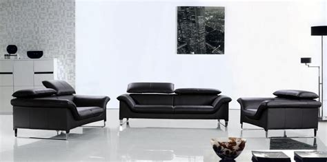 Black Contemporary Sofa by Elite Contemporary Black Leather Sofa Set Anaheim