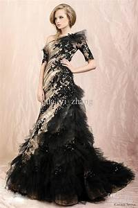 Looking elegant and modest with black wedding dresses with for Black and gold wedding dresses