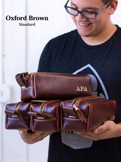 personalized leather dopp kit bag fathers day gift etsy