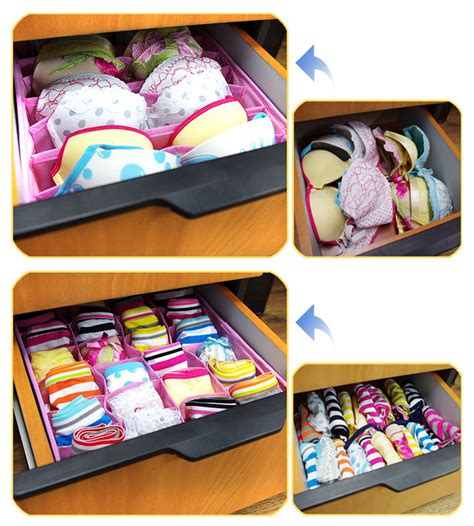 socks tie drawer bra organizer divider