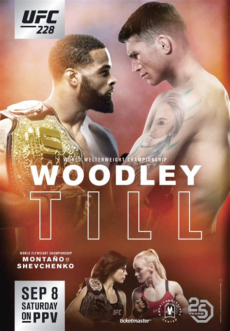 ufc  woodley   event poster landed fightmag