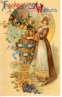 34 vintage thanksgiving postcards free domain images