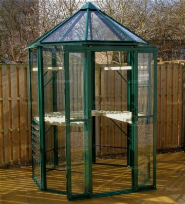 aluminium octagonal greenhouse  toughened glass