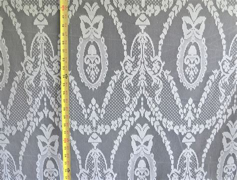 Lace Drapery Fabric by Lace Curtain Tablecloth White 58 Quot Wide 100 Poly Fabric