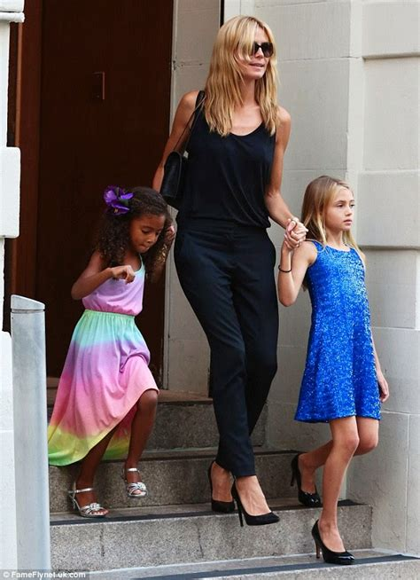 Heidi Klum Draws Criticism Because Her Young Daughters