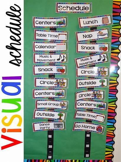 Schedule Preschool Visual Daily Clipart Routine Schedules