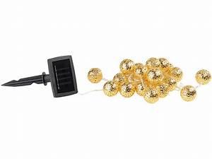 Solarlampen Für Draußen : lunartec solarlampen lichtketten solar led lichterkette 20 goldene leuchtkugeln warmwei ~ Whattoseeinmadrid.com Haus und Dekorationen