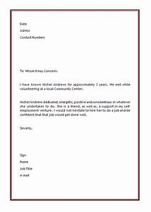 Character Reference Letter Template aplgplanetariums org
