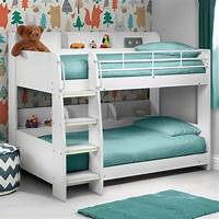 kid bunk beds Julian Bowen Domino White Wooden Kids Bunk Bed