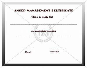 anger management certificate template certificate With anger management certificate template