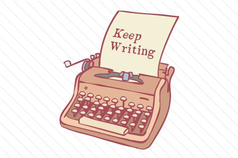Keep Writing Typewriter Svg Cut File By Creative Fabrica Crafts  Creative Fabrica