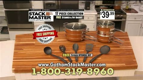 gotham steel stack master tv commercial cookware