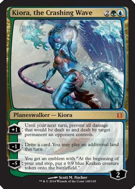 kiora the crashing wave born of the gods magic the