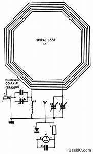 Loop Antenna For 35 Mhz - Basic Circuit - Circuit Diagram
