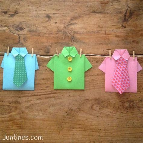 Camisa de origami Origami shirt Una ideas genial para
