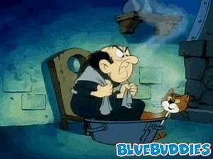 Smurf GIF Animations Dazed Papa Smurf Gargamel Shivering ...