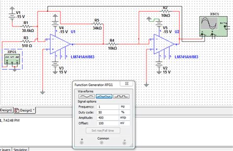 Summer Inverter Amp Multisim Diagram Physics Forums